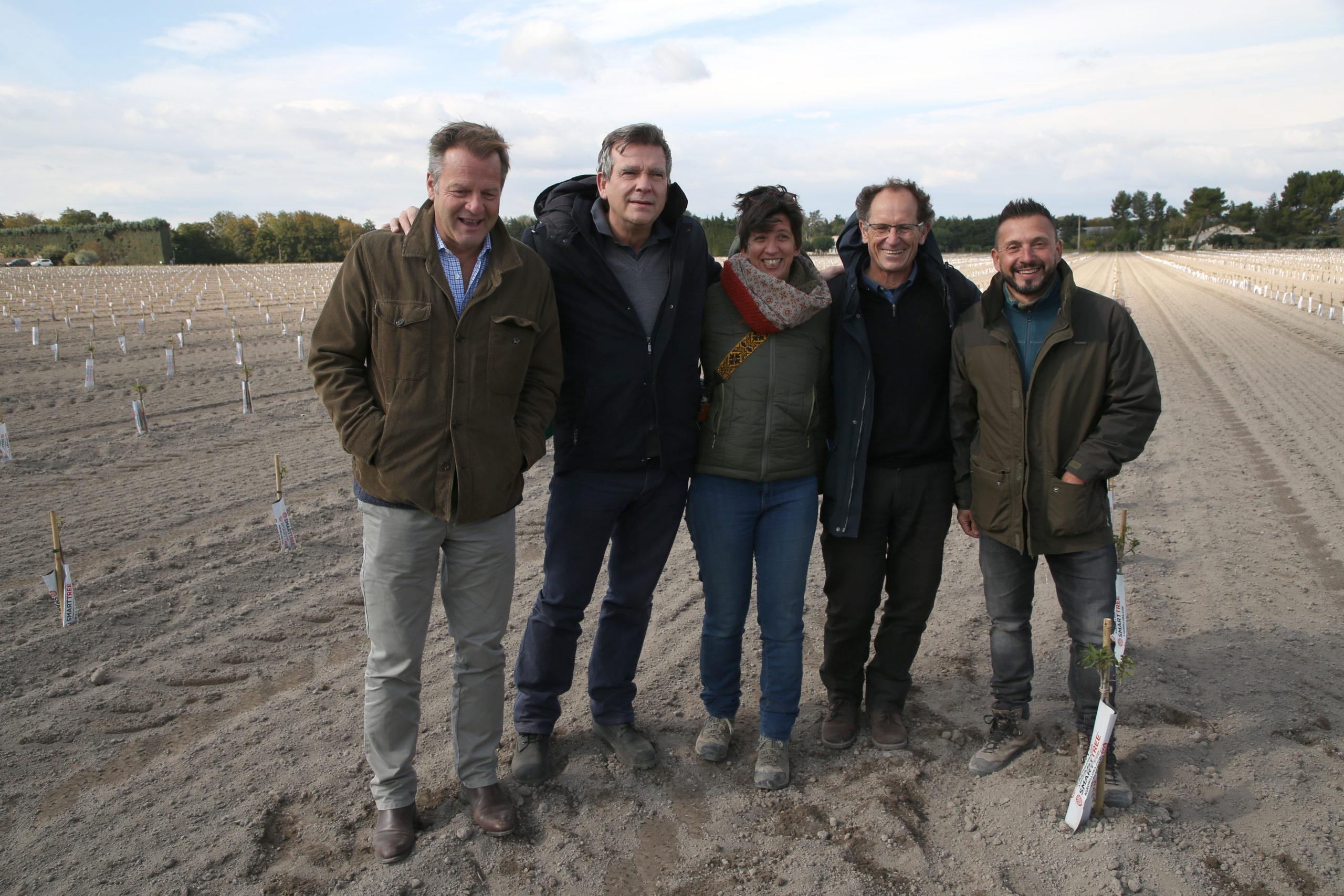 Première plantation de la Compagnie des Amandes à Pernes-les-Fontaines