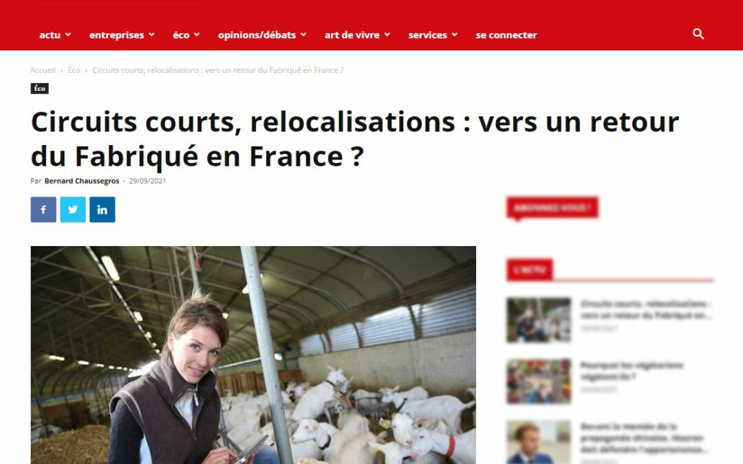 RELOCALISATION ET CIRCUIT COURT – ENTREPRENDRE SEPT 2021